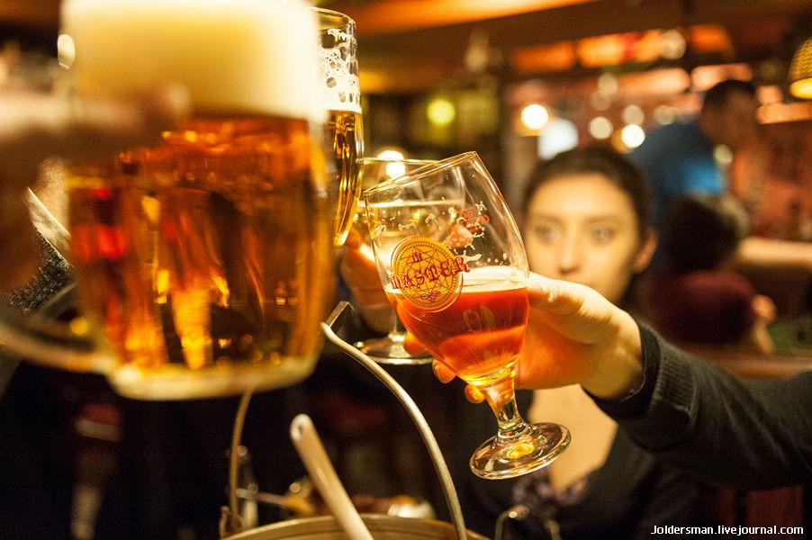 Чешское пиво в Праге - ресторан склипек на Анделе