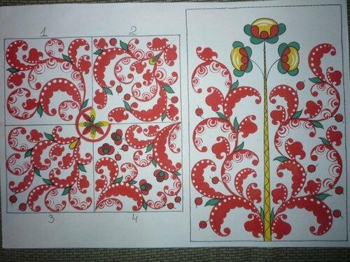 Роспись татарский орнамент