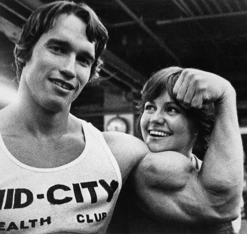 Arnold Schwarzenegger and Sally Field
