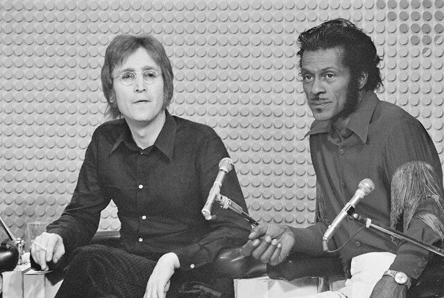 John Lennon and Chuck Berry on the Mike Douglas Show