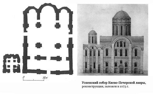 Успенский собор Печерского монастыря (Киево-Печерской лавры), реконструкция и план