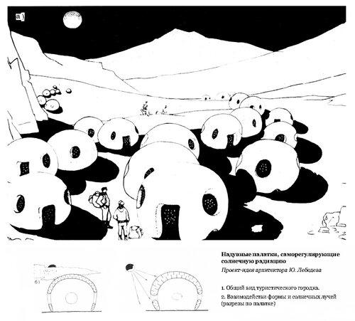 Проект надувной платки, саморегулирующие солнечную радиацию