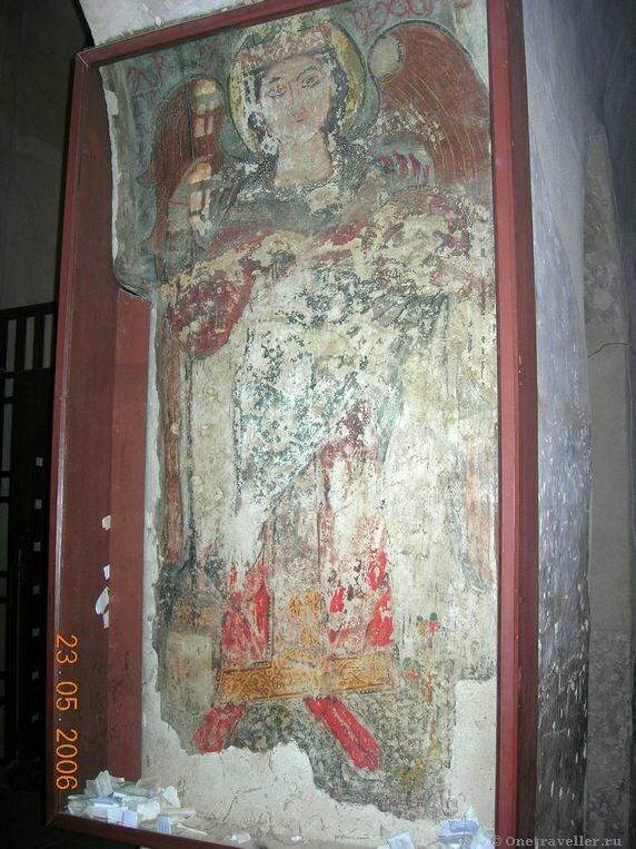 Египет. Коптский монастырь Эль-Барамос. Древняя фреска.