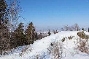 Вид с вершины в сторону Красноярска.