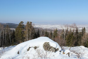 На горизонте Красноярск.