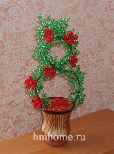 Восьмимартовское бисерное деревце