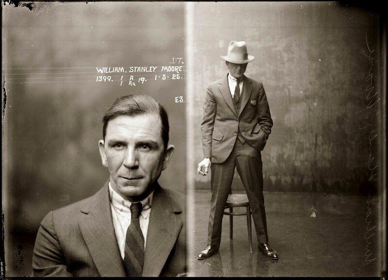 Лица преступников Сиднея 20-30х годов