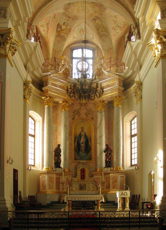 Интерьер костела Пресвятой Девы Марии