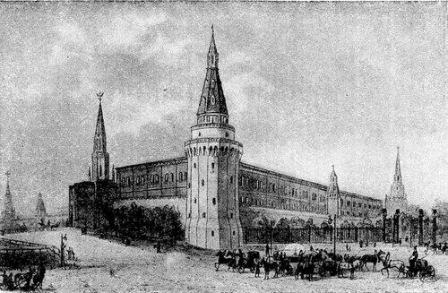 Рисунок 113. Арсенал в начале XIX в. (ГИМ).
