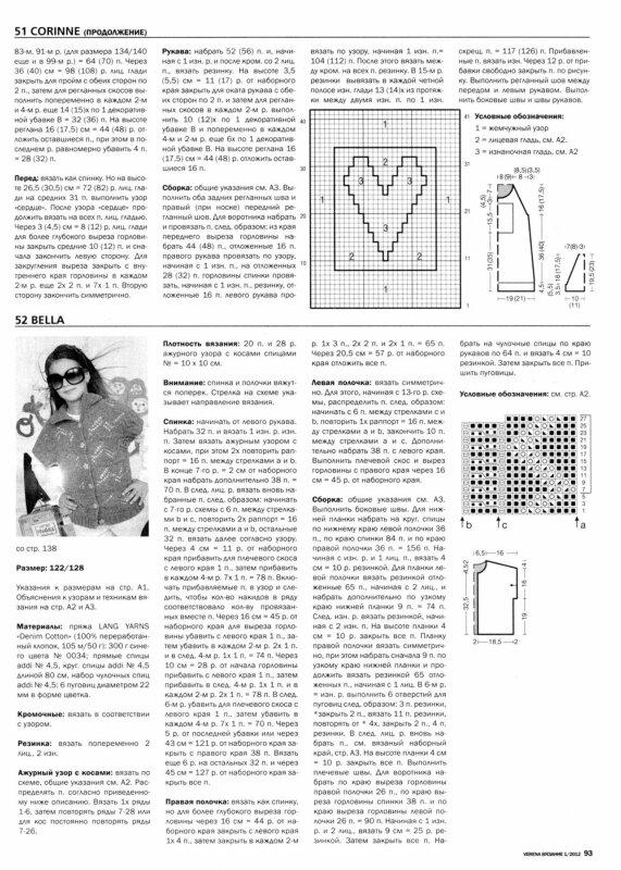 Вязание в архивах: вязание женский пуловер,схема вязания спицами реглана.