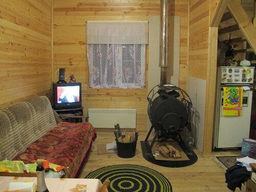 Буржуйка в деревянном доме