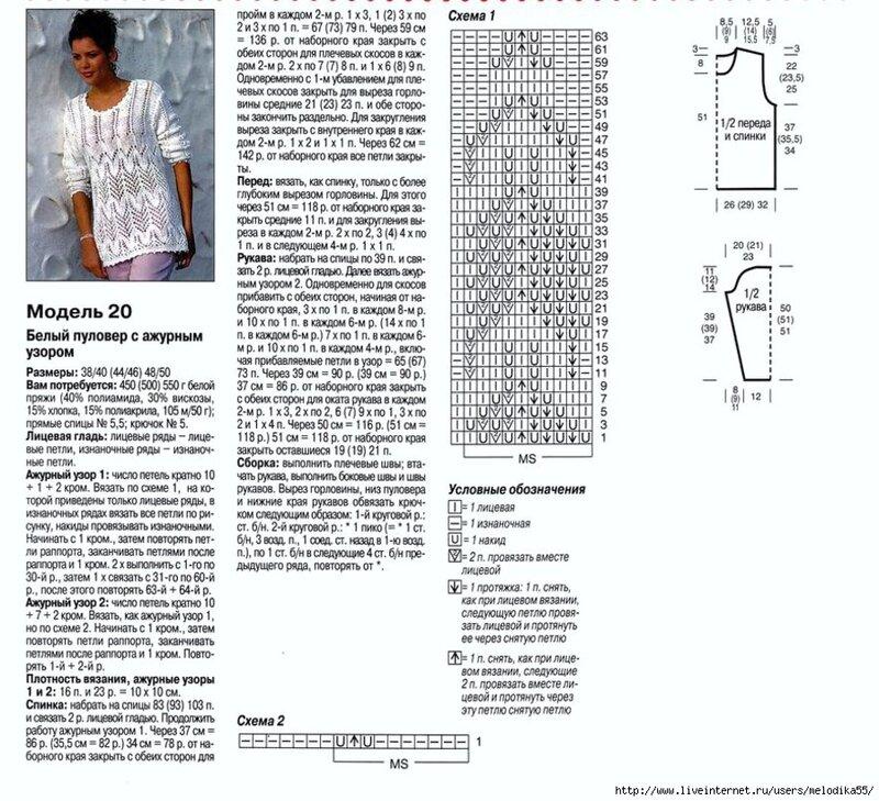 Простые модели и схемы вязания 194
