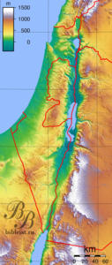 Рельеф и высоты Израиля