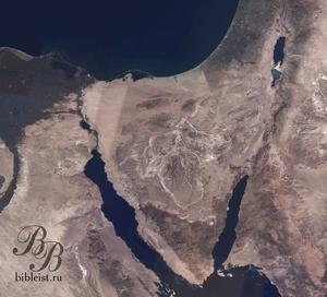 Территория 40-летнего Исхода Израиля из Египта