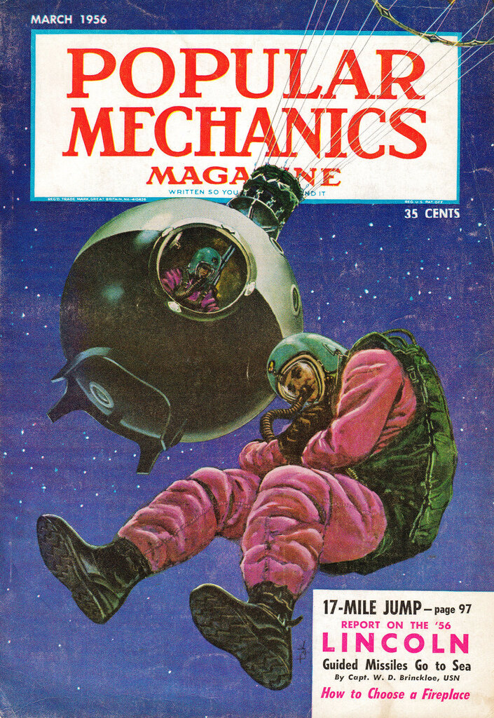 """Popular Mechanics Magazine"" - March, 1956."