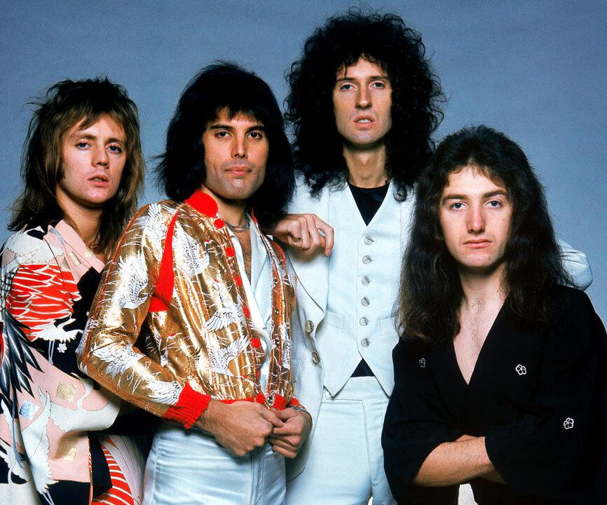 Freddie Mercury, Brian May, Roger Taylor, John Deacon, Queen, 1975, 1970s.