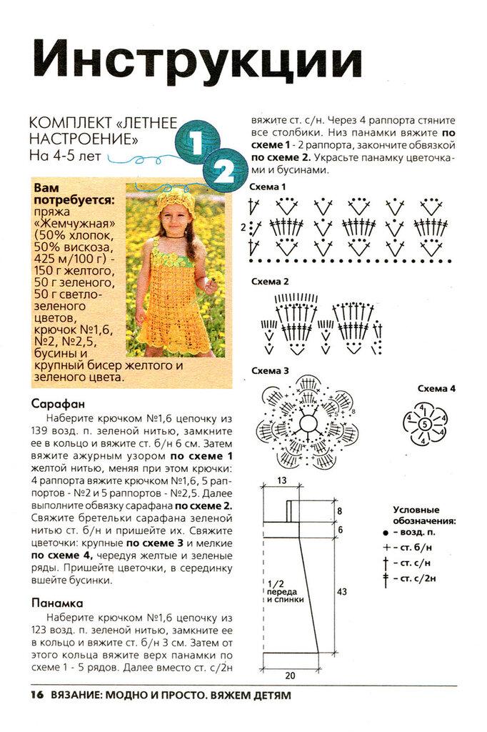 Вязание нарядных платьев для девочек спицами со схемами