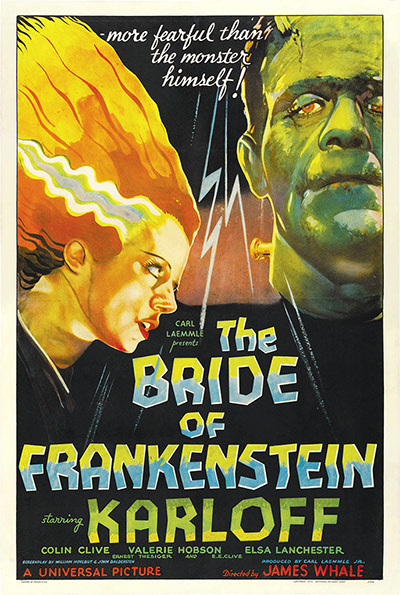 Top Selling Film Posters - The Bride of Frankenstein, 1935