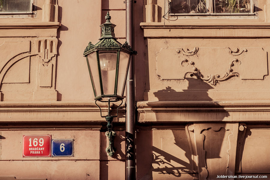 игра теней в Праге