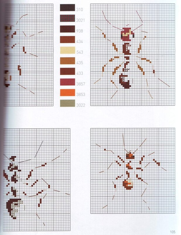 Часть 23.  Нашла еще одну очаровательную книгу со схемами от MTSA!