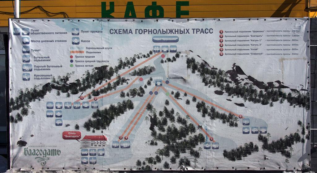 схема горнолыжных трасс:
