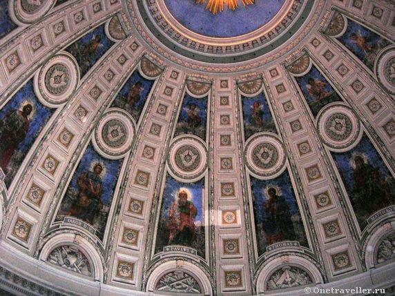 Дания. Копенгаген. Купол Мраморной церкви.