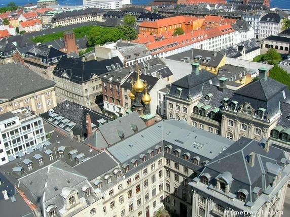 Дания. Панорама Копенгагена.
