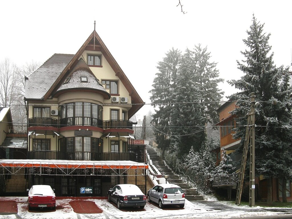 Мишкольц после снегопада