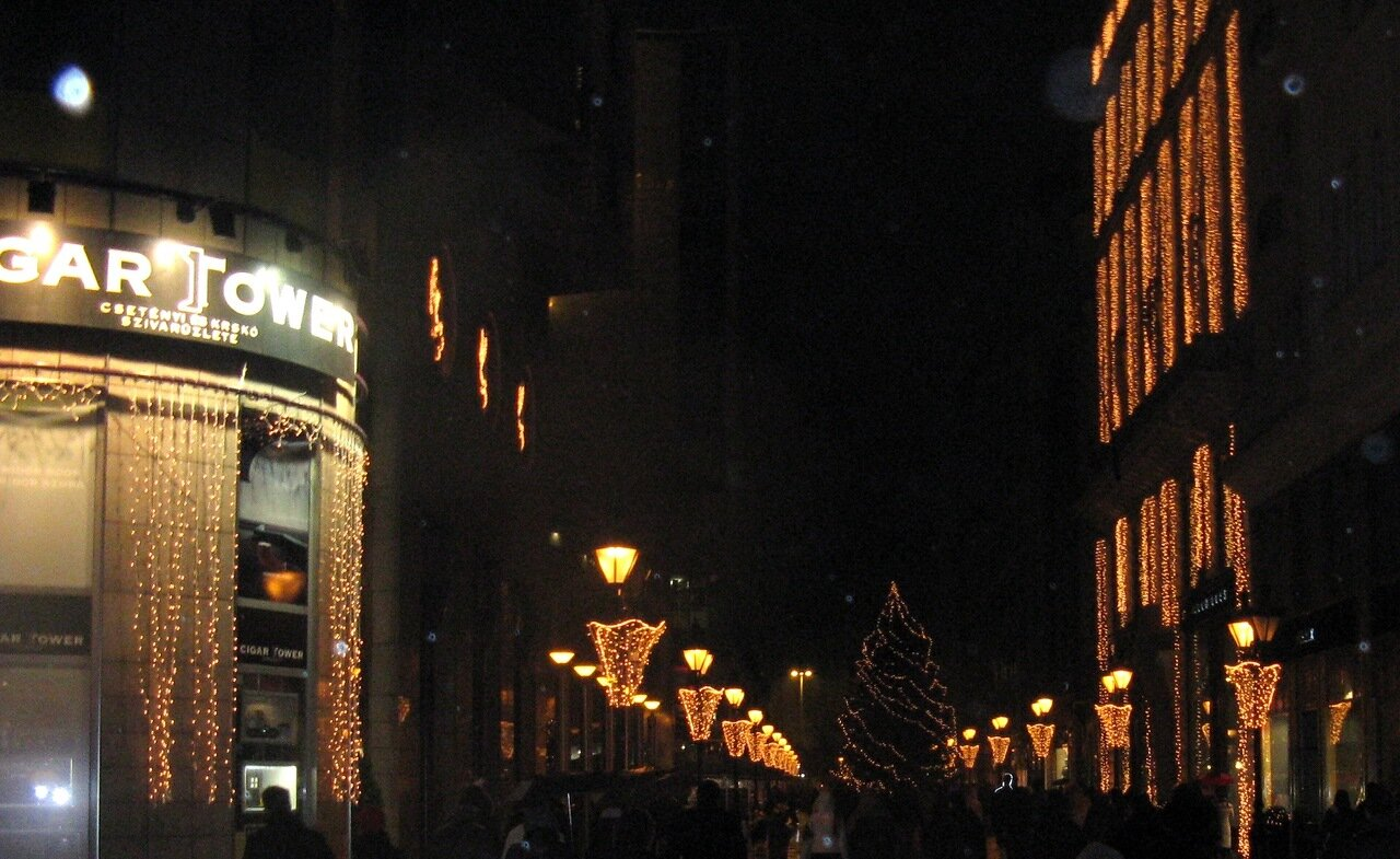 New year's eve on the streets of Budapest