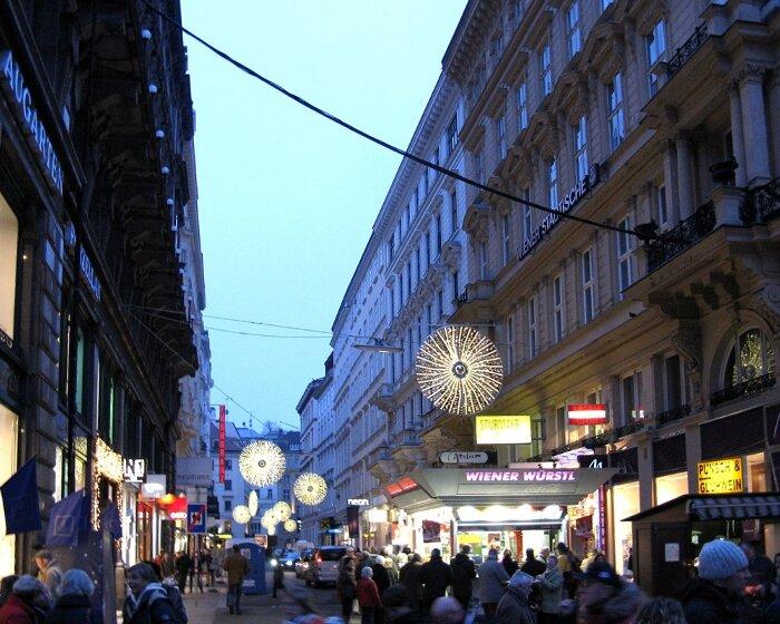 Вена. Новогодняя иллюминация