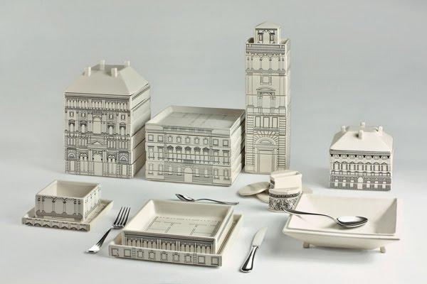 Фарфоровая Флоренция на обеденном столе. Дизайн Alessandro Zambelli