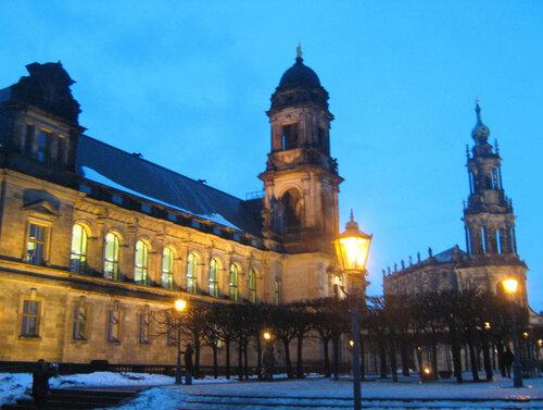 Вечерний зимний Дрезден