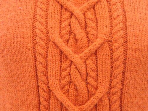 Схема рисунка вязаного свитера.
