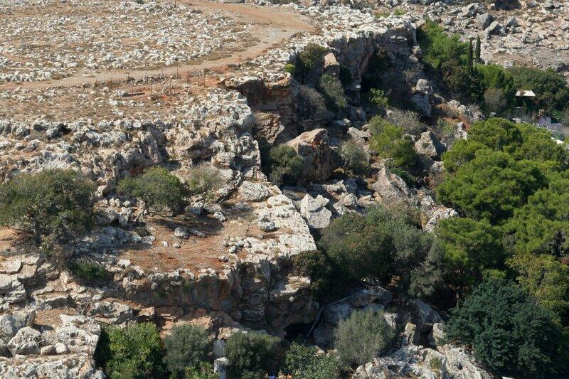 Скалы и кустарники