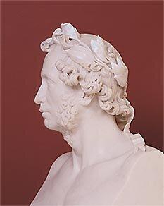 А. С. Пушкин. Бюст работы И. П. Витали. 1837 год. Мрамор.