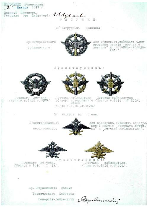 Сводная таблица нагрудных знаков и орлов на погоны военных летчиков и летчиков-наблюдателей.jpg