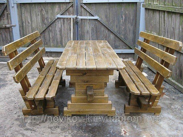 Деревянные столы и лавки для дачи своими