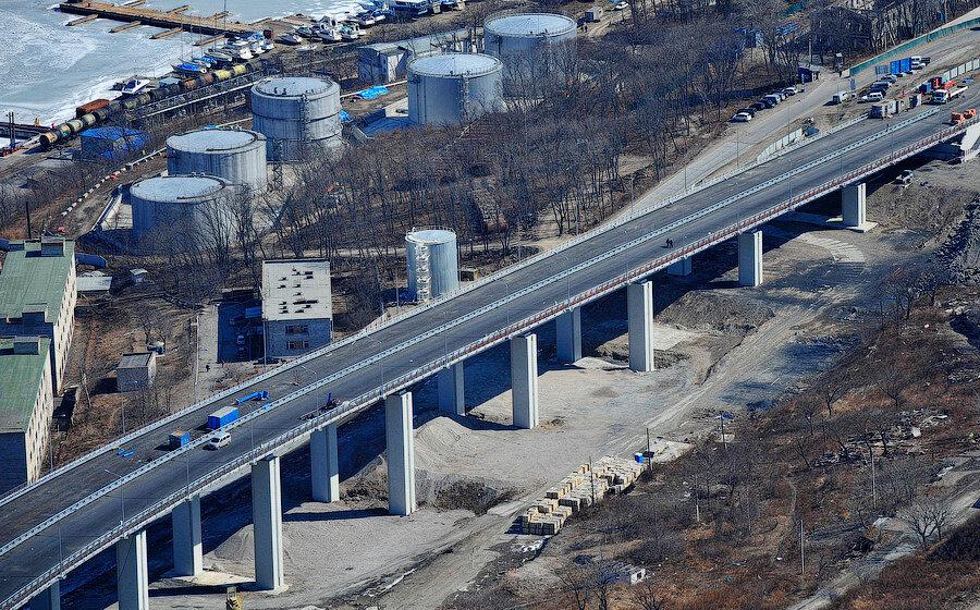 Репортаж с высоты 320 метров: Русский мост во Владивостоке