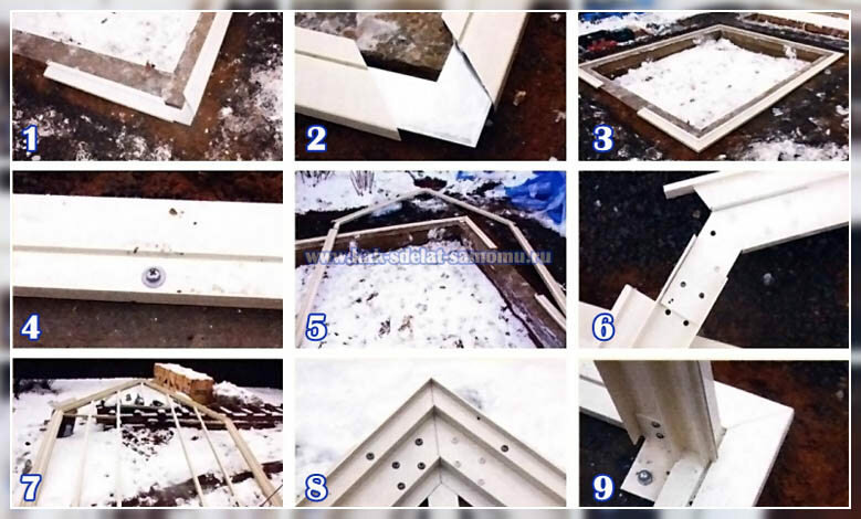Инструкция по сборке теплицы - фото