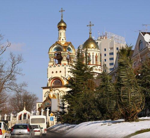 Сочи.Храм  равноапостольного князя Владимира