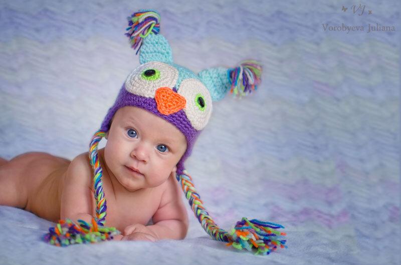 Вязание шапочки на деток крючком