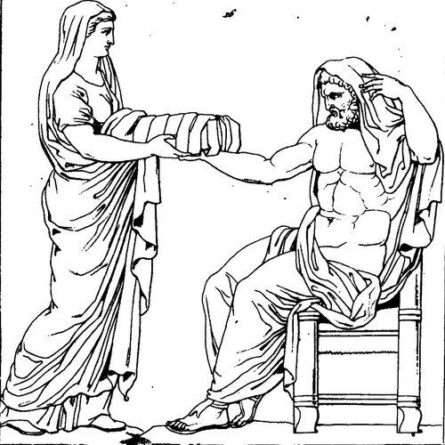 Рисунок к мифу о рождении зевса