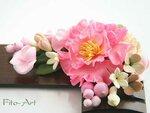 Фоторамки с цветами ручной работы из полимерной глины