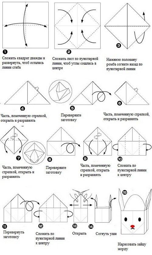 Как сделать оригами из яйца