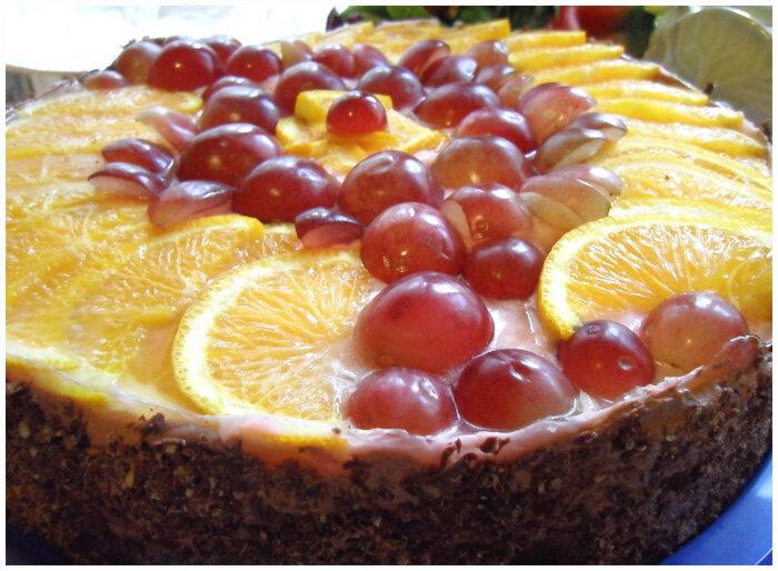 йогуртный торт на бисквите с фруктами фото рецепт