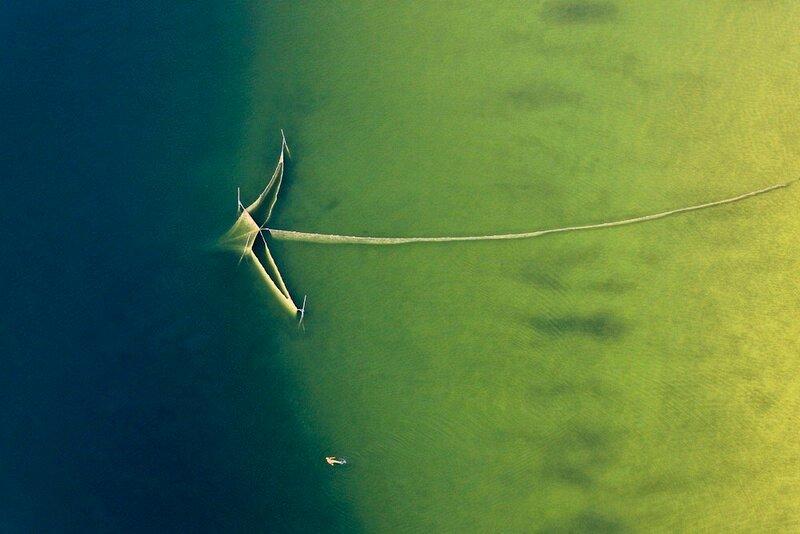 Fischnetz im Ammersee