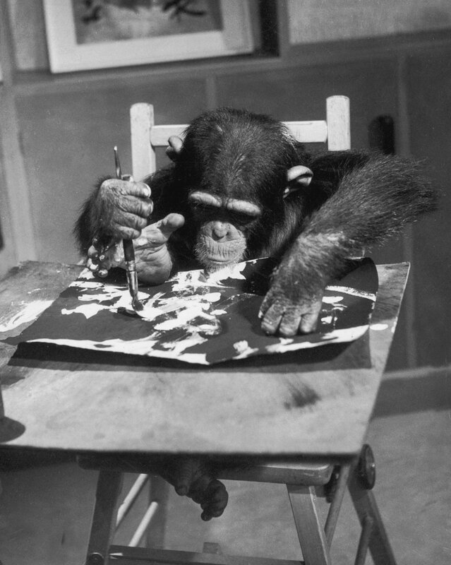 Artist Chimp At Work