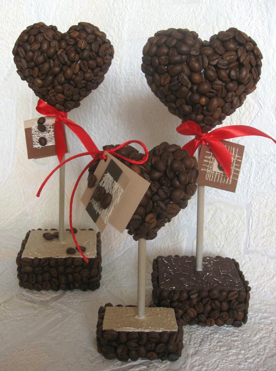 Подарки из кофейных зерен своими руками на