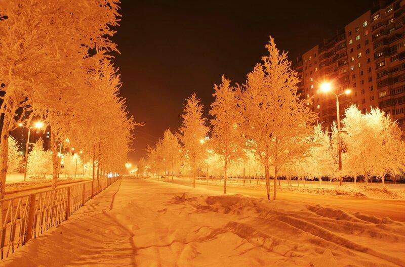 Ночной Вартовск 18.01.2011