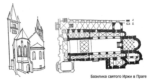 Базилика святого Иржи в Праге, чертежи